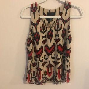 Cynthia rowley sleeveless blouse with print